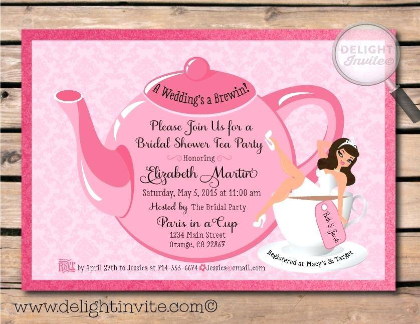 Tea Party Invitation Samples