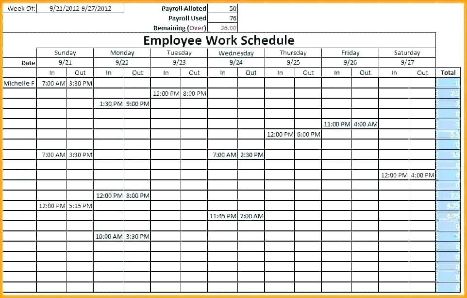 Team Vacation Schedule Template