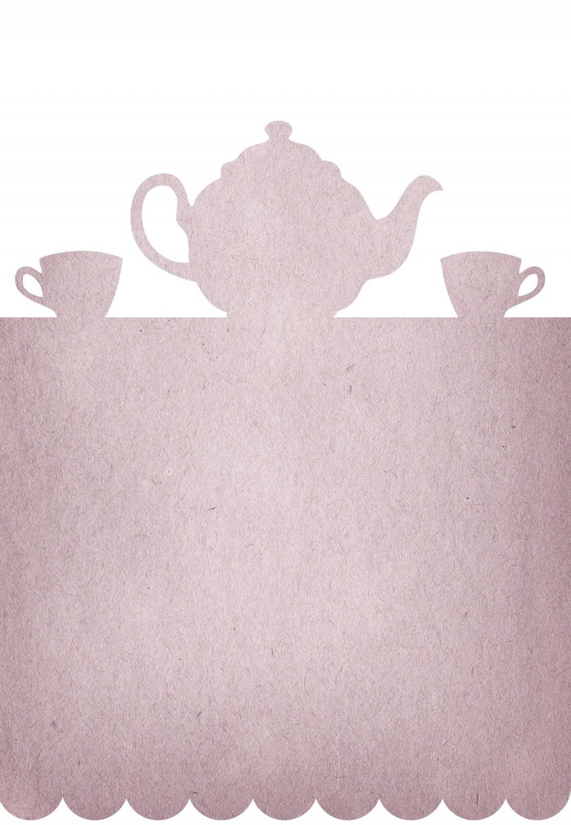 Teapot Party Invitation Template