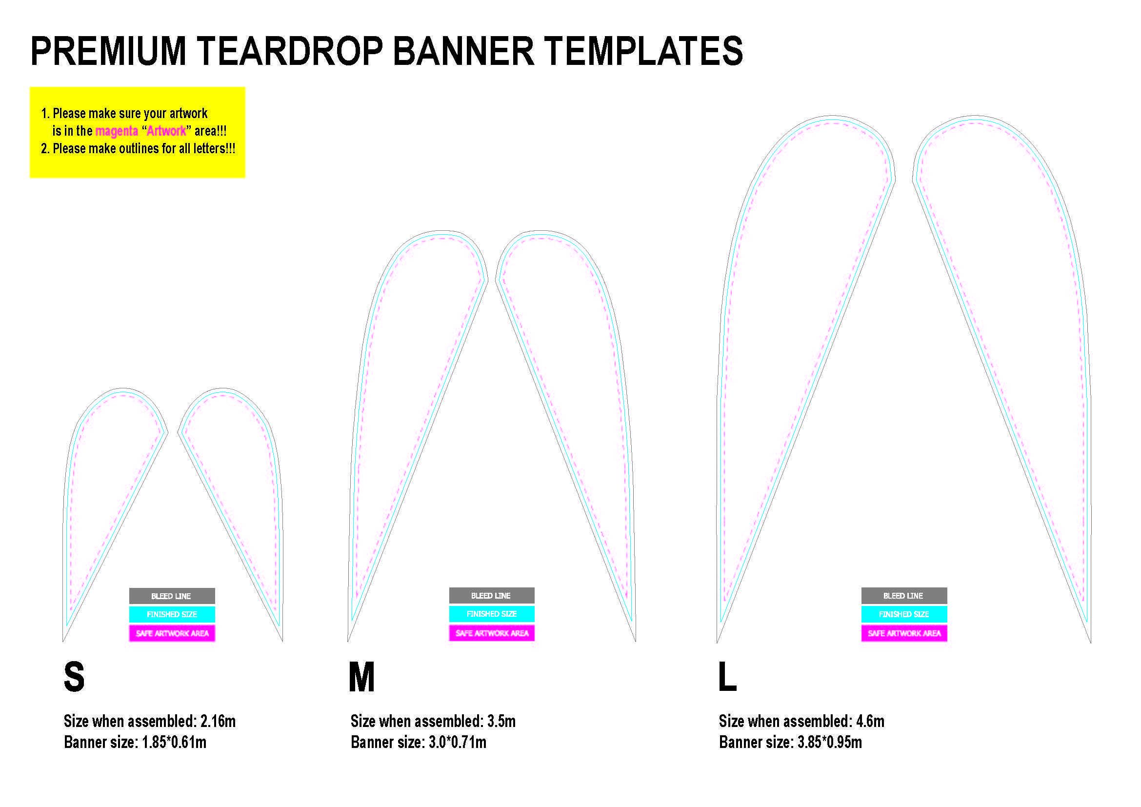 Teardrop Banner Template Pdf