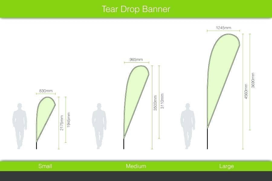 Teardrop Banner Template
