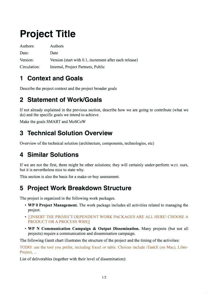 Technical Design Document Template For Ssis
