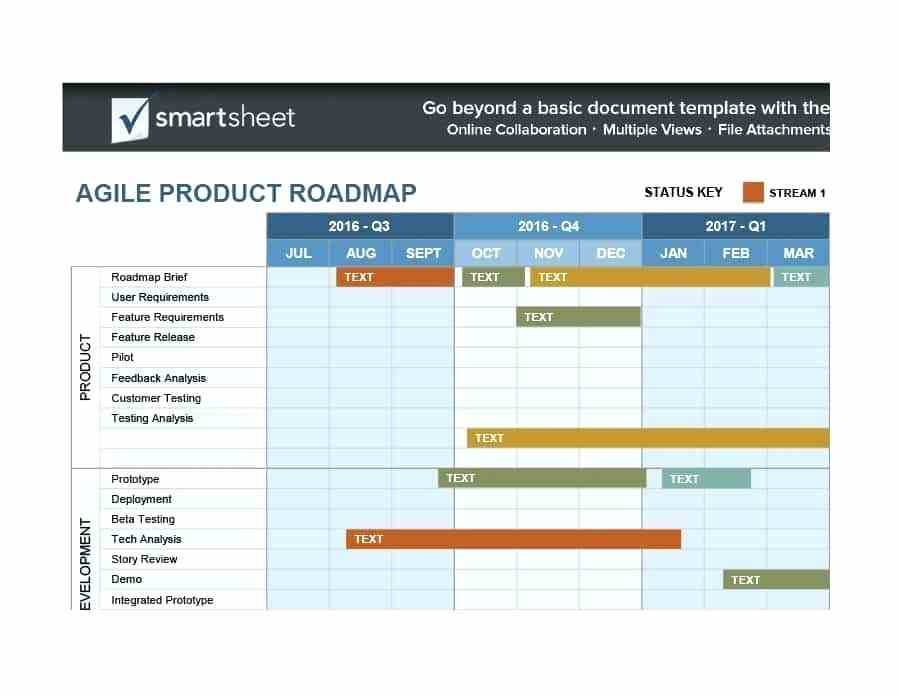 Technology Roadmap Template Excel Download