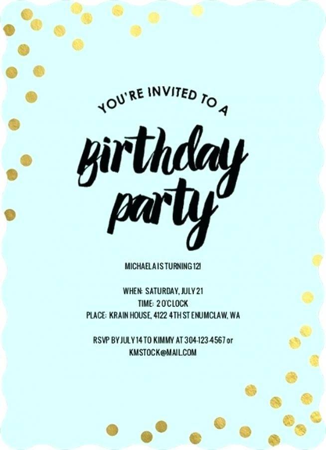 Teenage Birthday Invitation Wording Samples