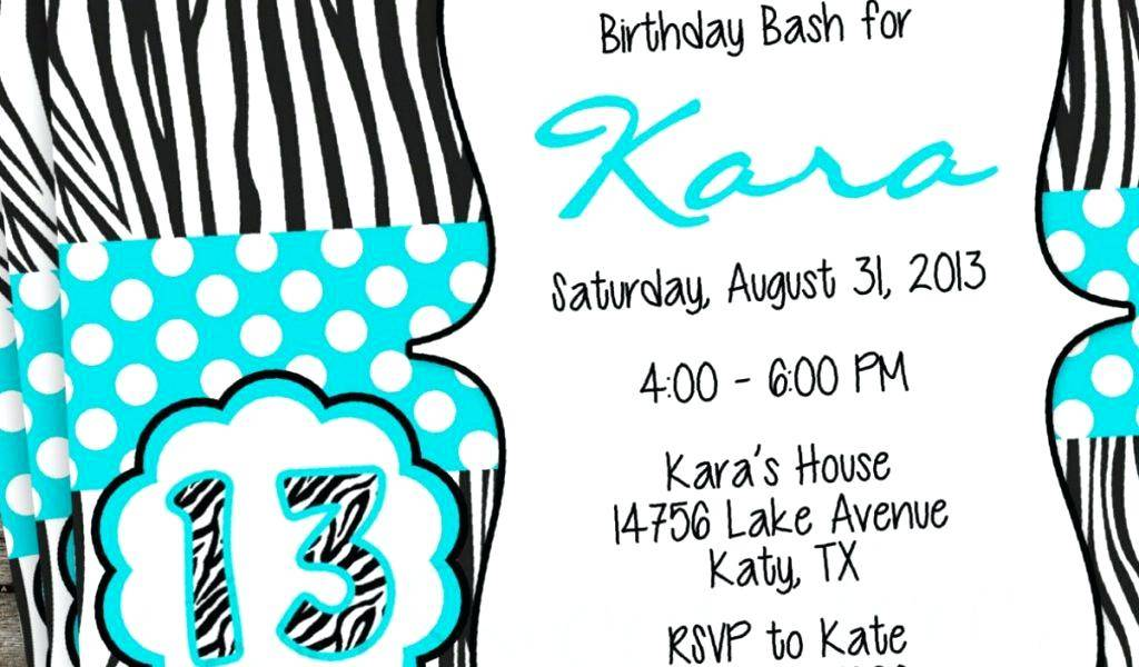 Teenage Girl Birthday Invitation Templates