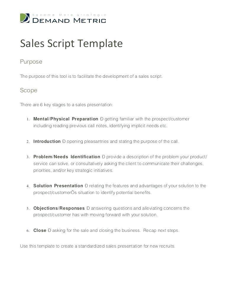Telemarketing Script Example Pdf