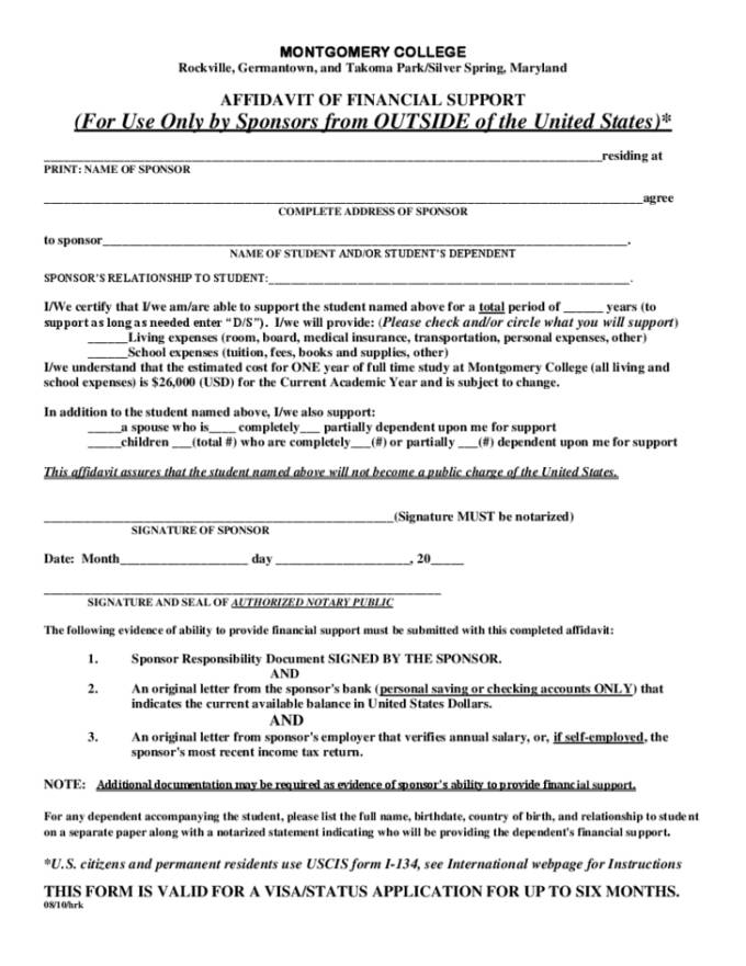 Template Affidavit Australia