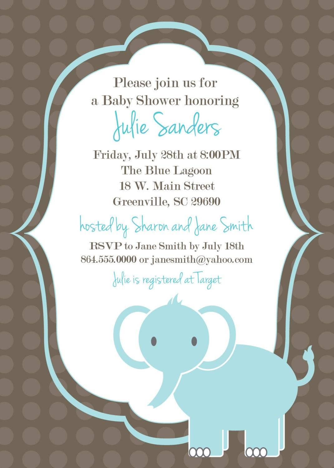 Template Baby Shower Invitations For Boys