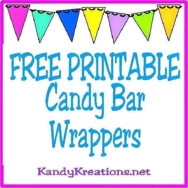 Template Candy Bar Wrappers Free Printable