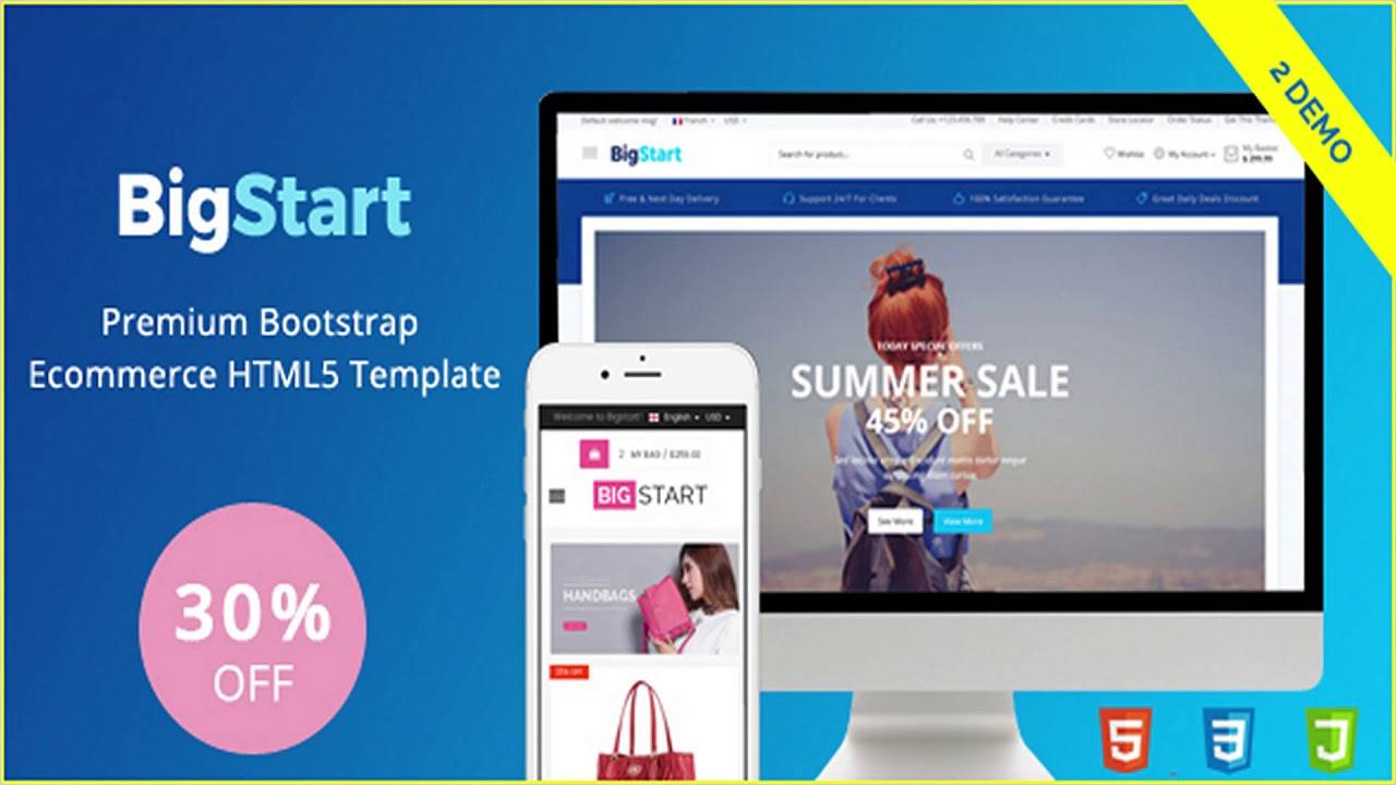 Template Ecommerce Bootstrap Premium
