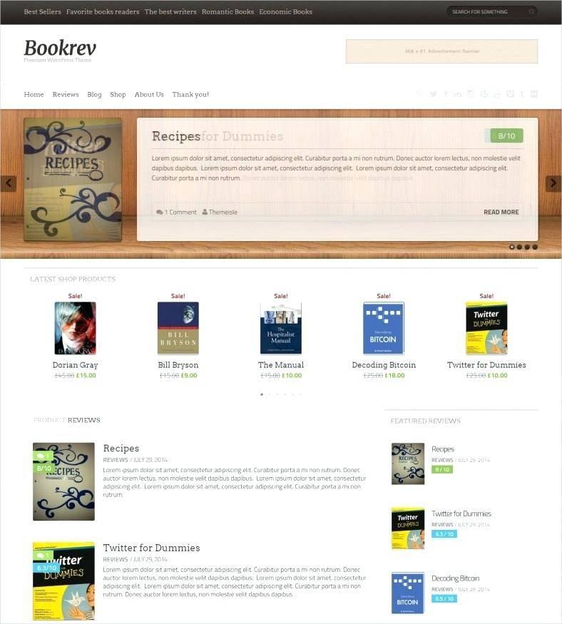 Template Ecommerce WordPress Premium Free
