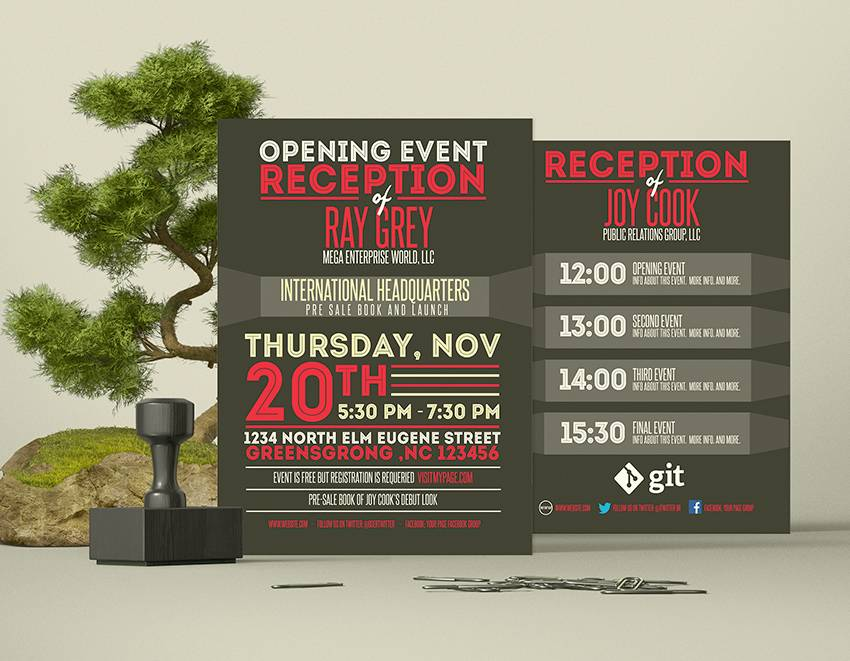 Template Flyer Event Psd