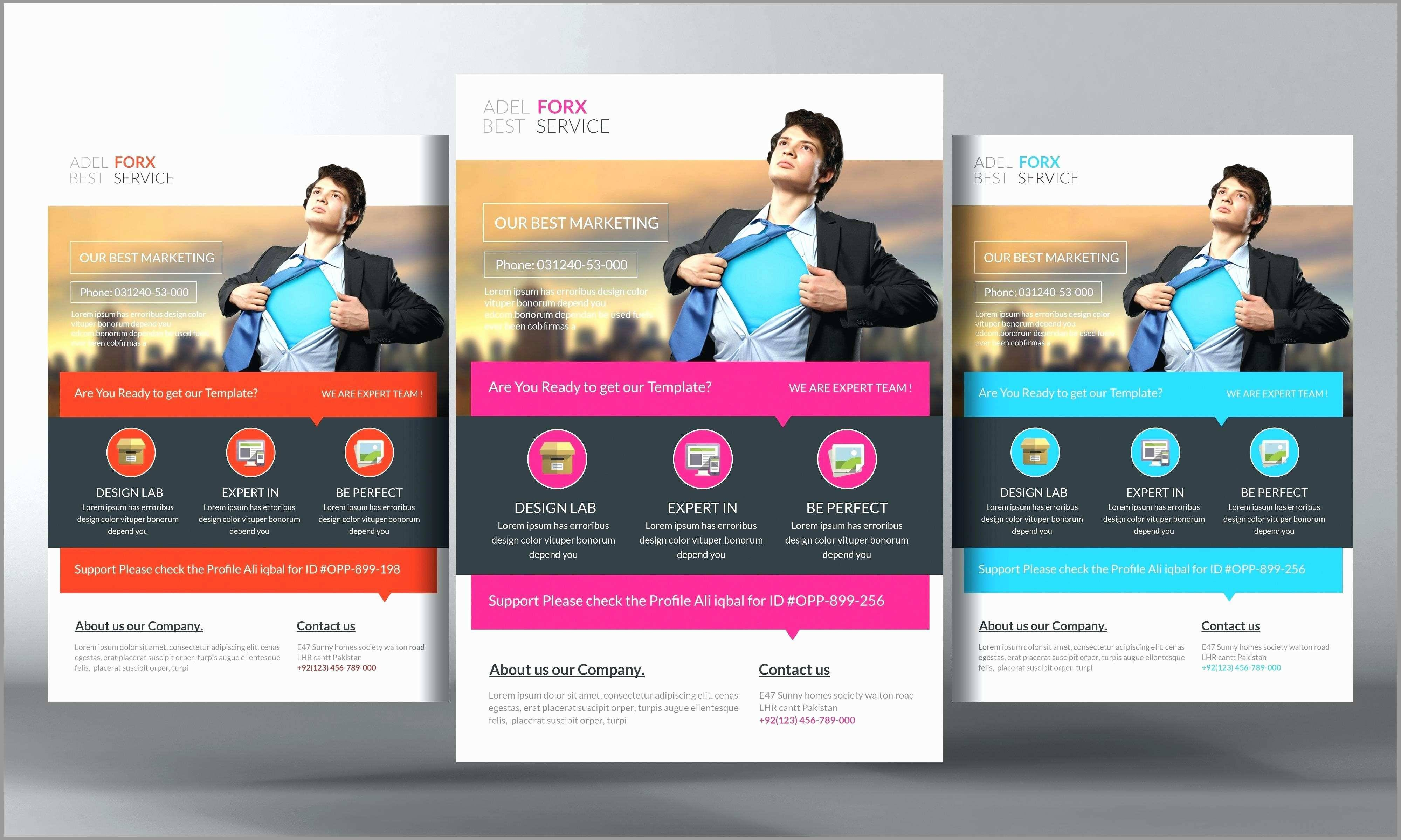 Template For Advertising Flyer With Tabs