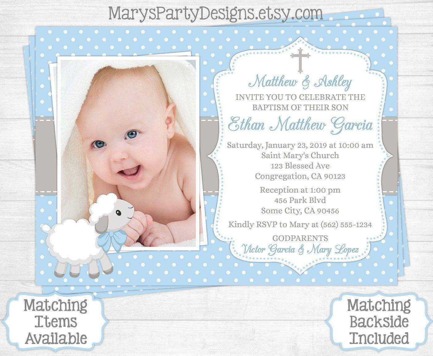 Template For Baptismal Invitation