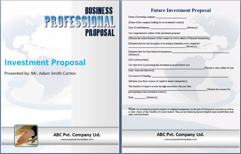 Template For Business Proposal In Word
