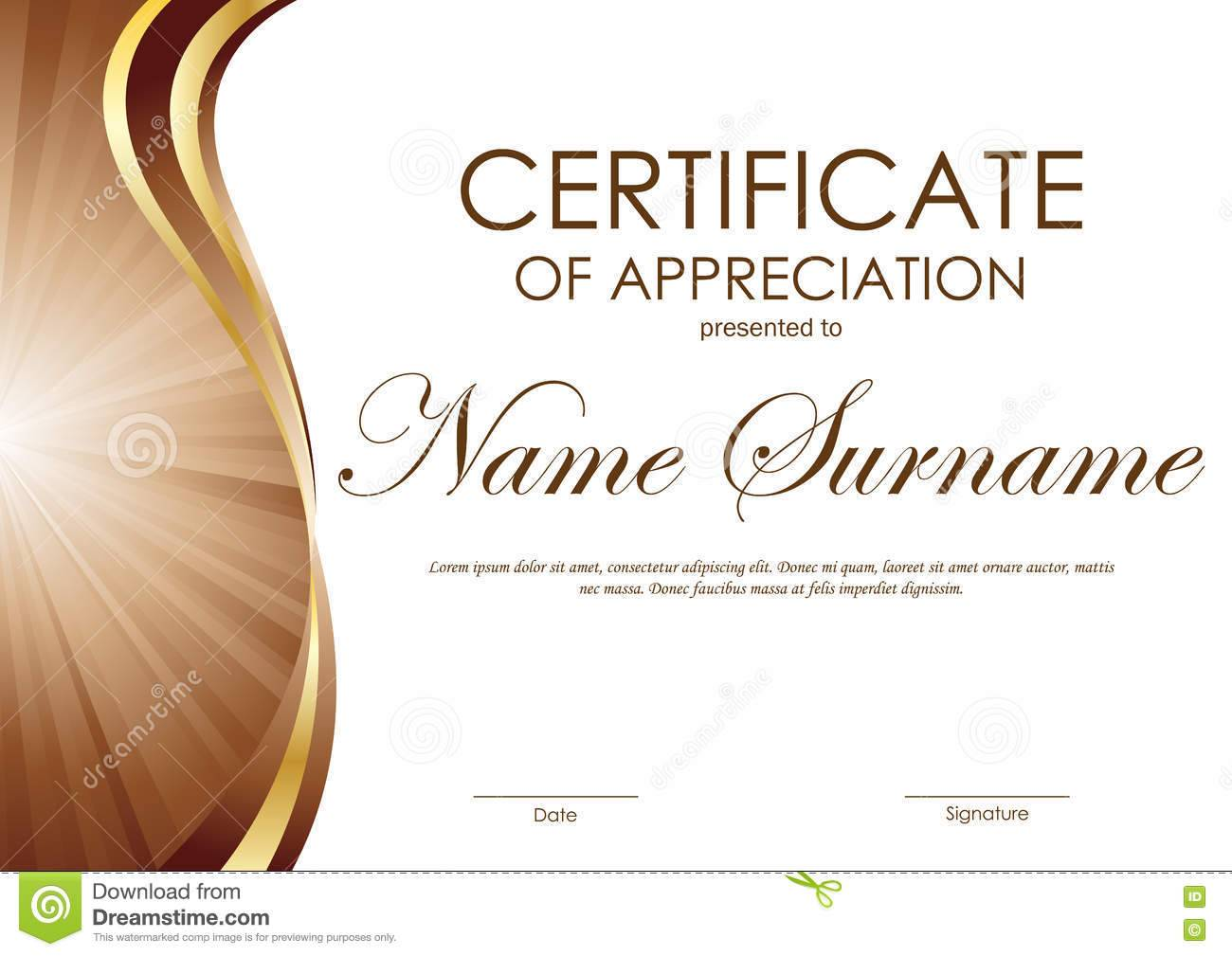 Template For Certificate Of Appreciation For Volunteers