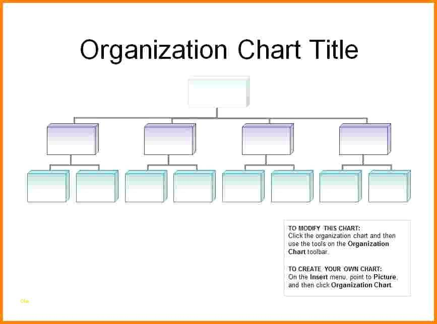 Template For Creating Organizational Charts