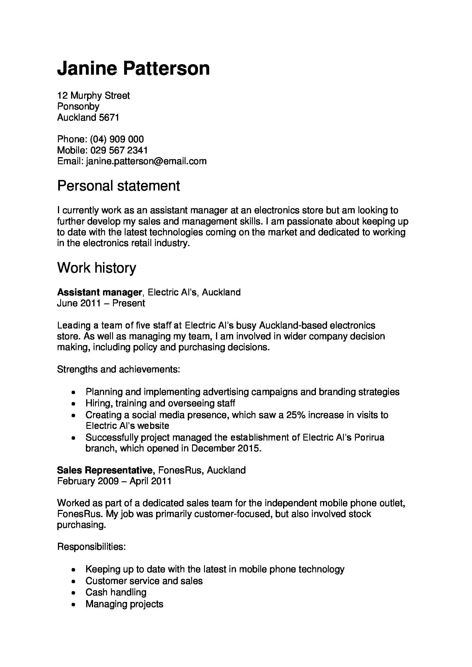 Template For Cv And Cover Letter