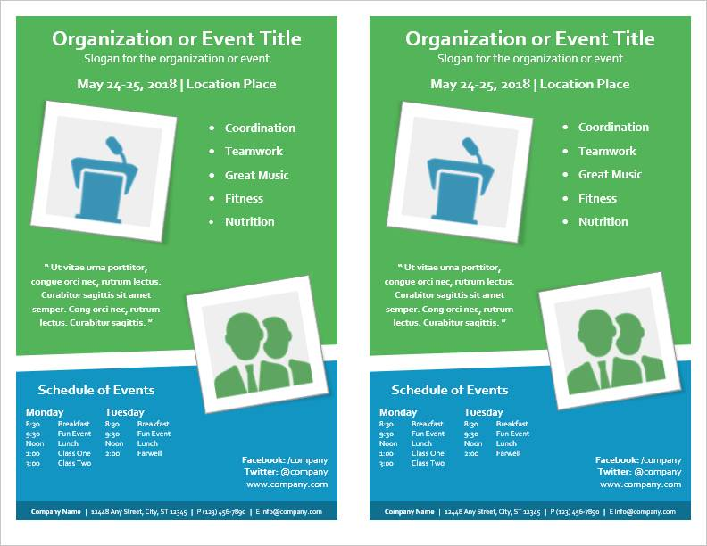 Template For Event Flyers