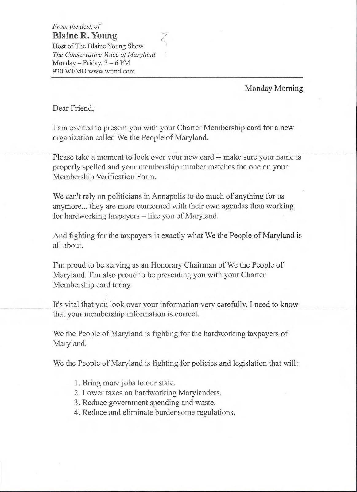 Template For Fundraising Letter