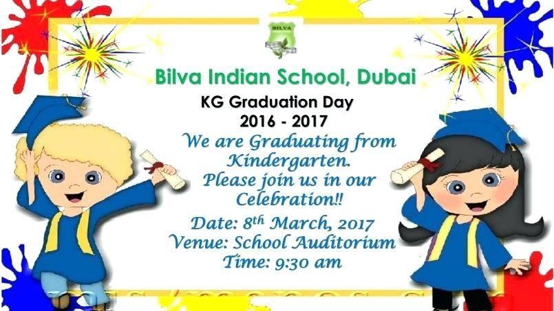 Template For Kindergarten Graduation Invitation
