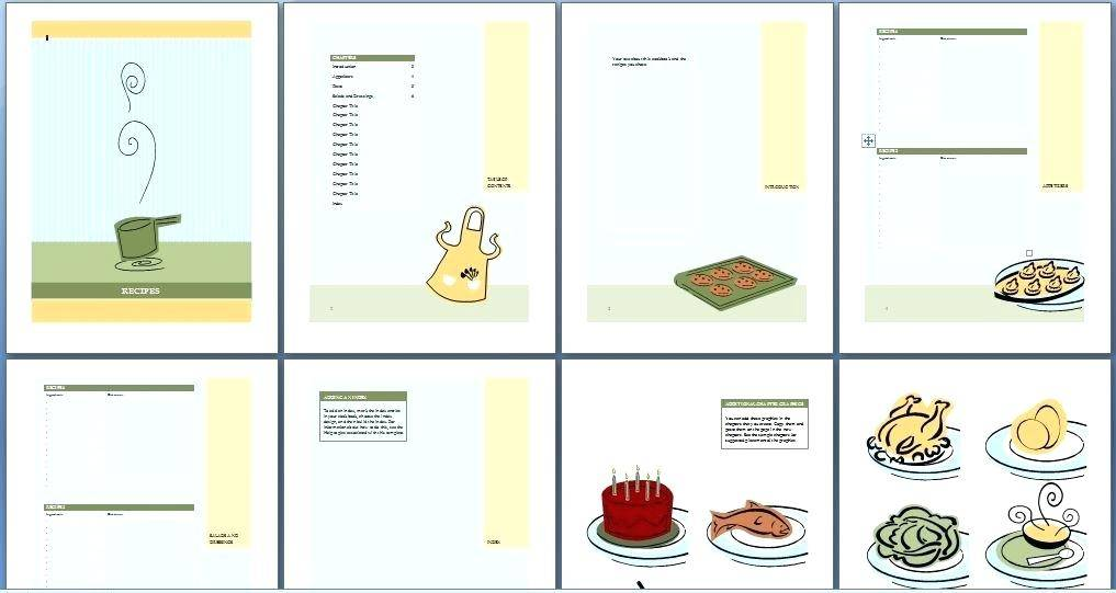 Template For Making A Cookbook