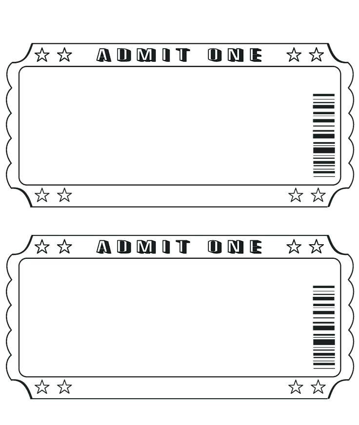 Template For Making Raffle Tickets