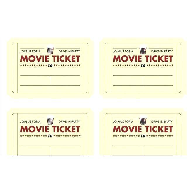 Template For Making Tickets