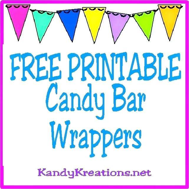 Template For Mini Candy Bar Wrappers Free