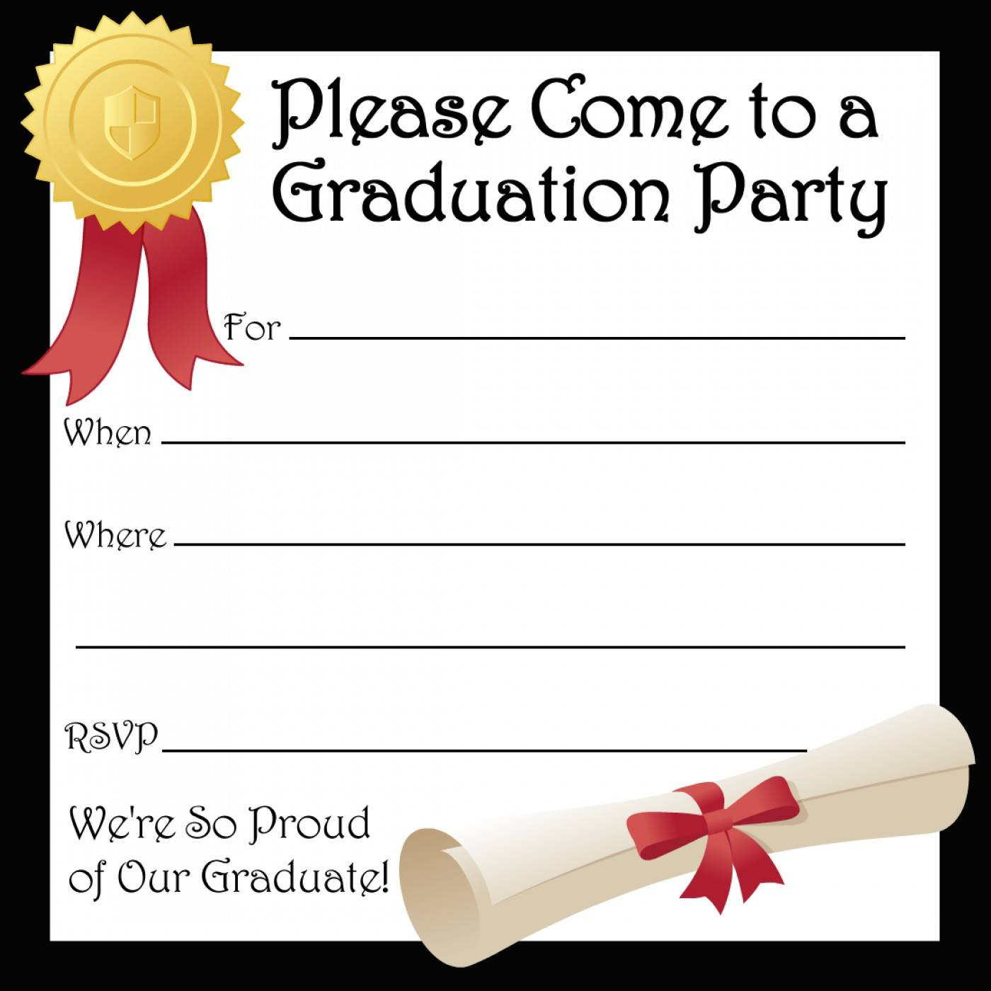 Template For Preschool Graduation Invitation