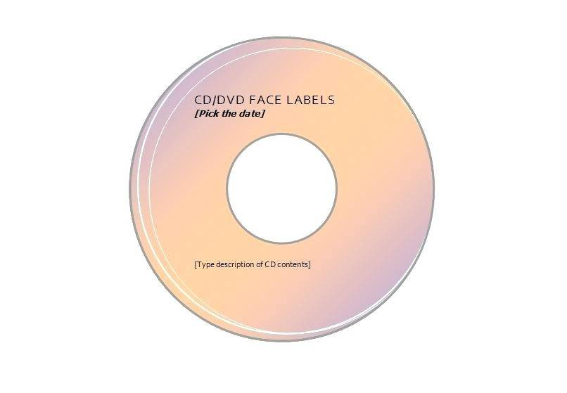 Template For Printing Cd Labels