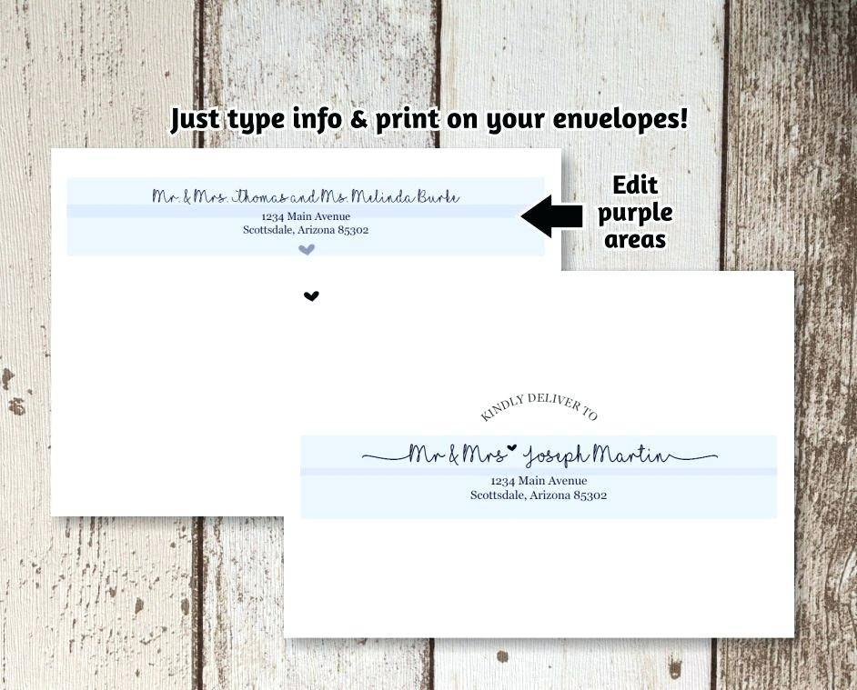 Template For Printing Envelopes Word