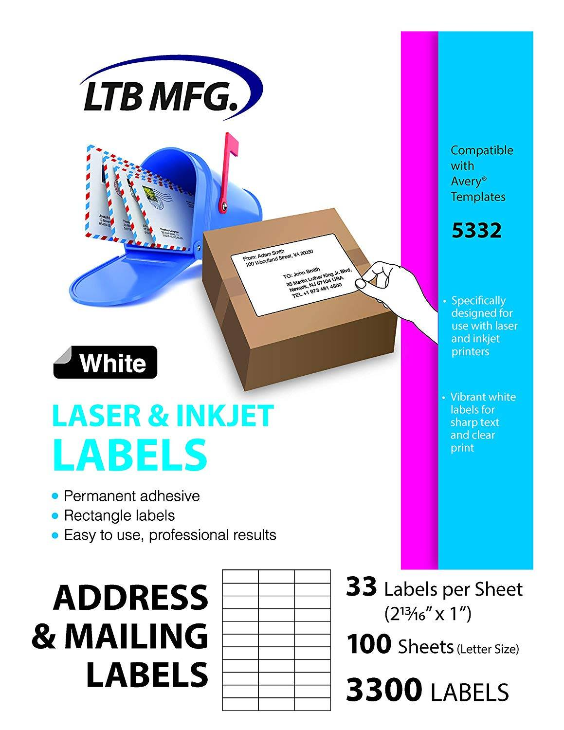 Template For Printing Labels 8 Per Sheet