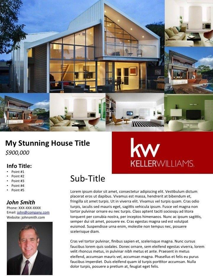 Template For Real Estate Flyer Free