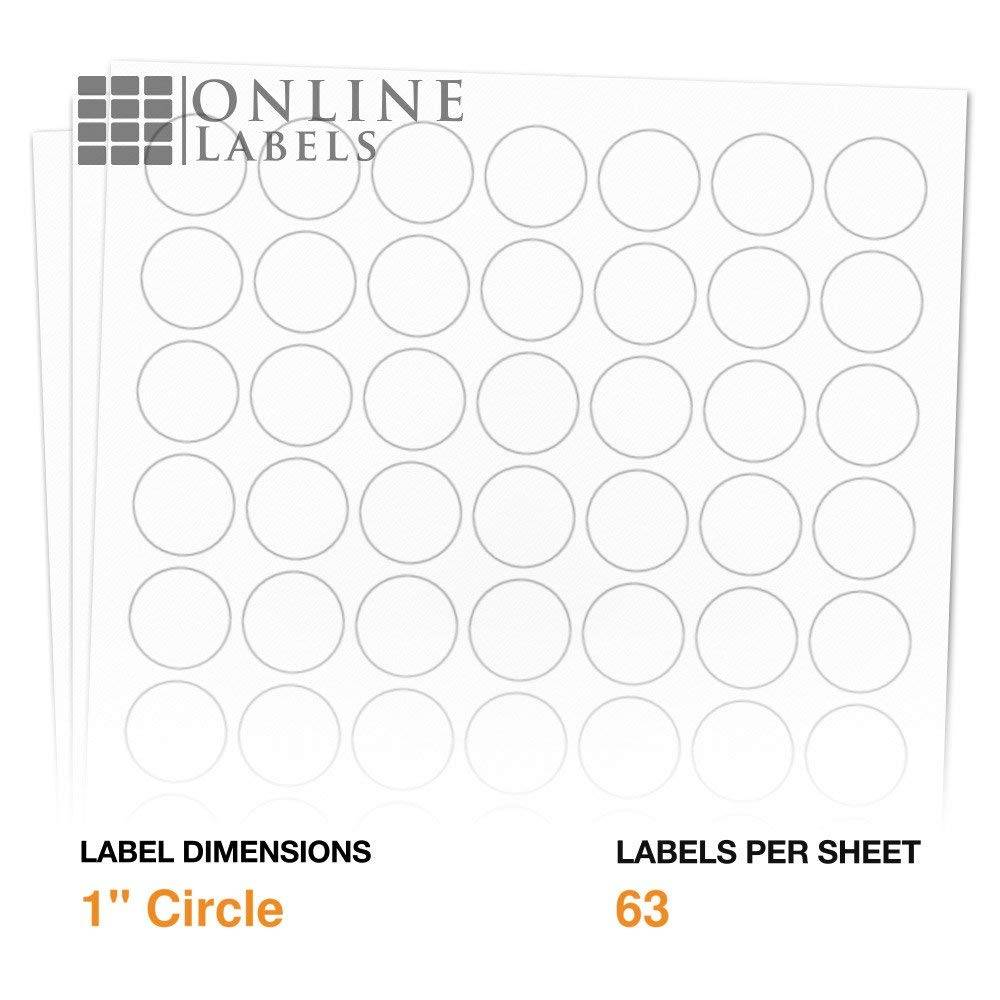 Template For Round Labels 20 Per Sheet
