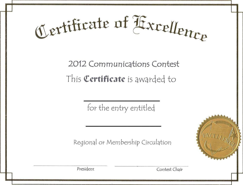 Template For Scholarship Certificate Award