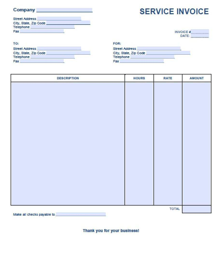 Template For Sponsorship Invoice