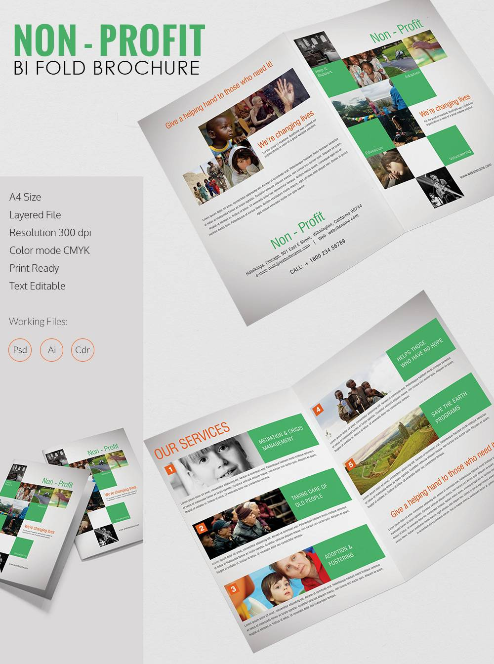 Template For Tri Fold Brochure Photoshop
