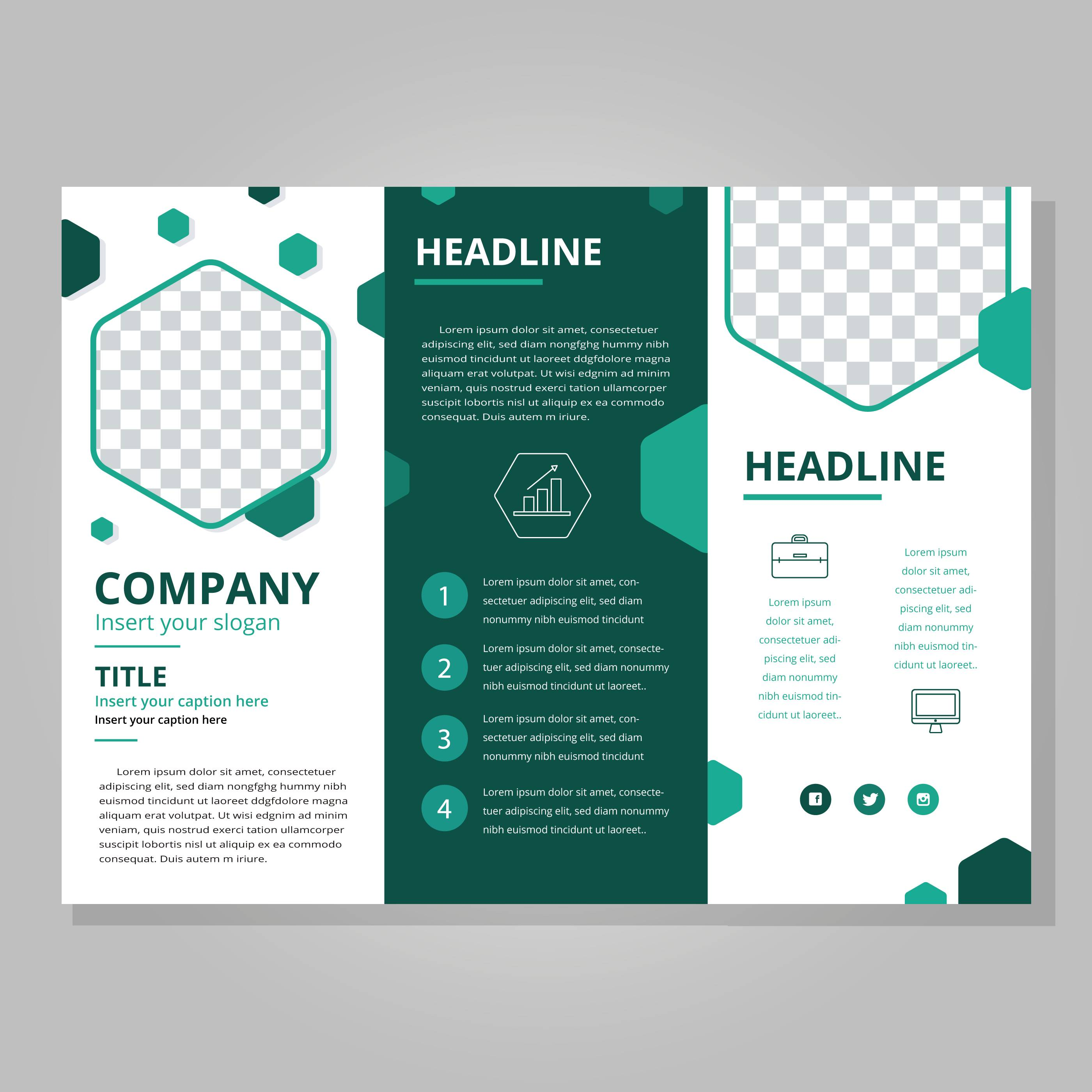 Template For Tri Fold Brochure