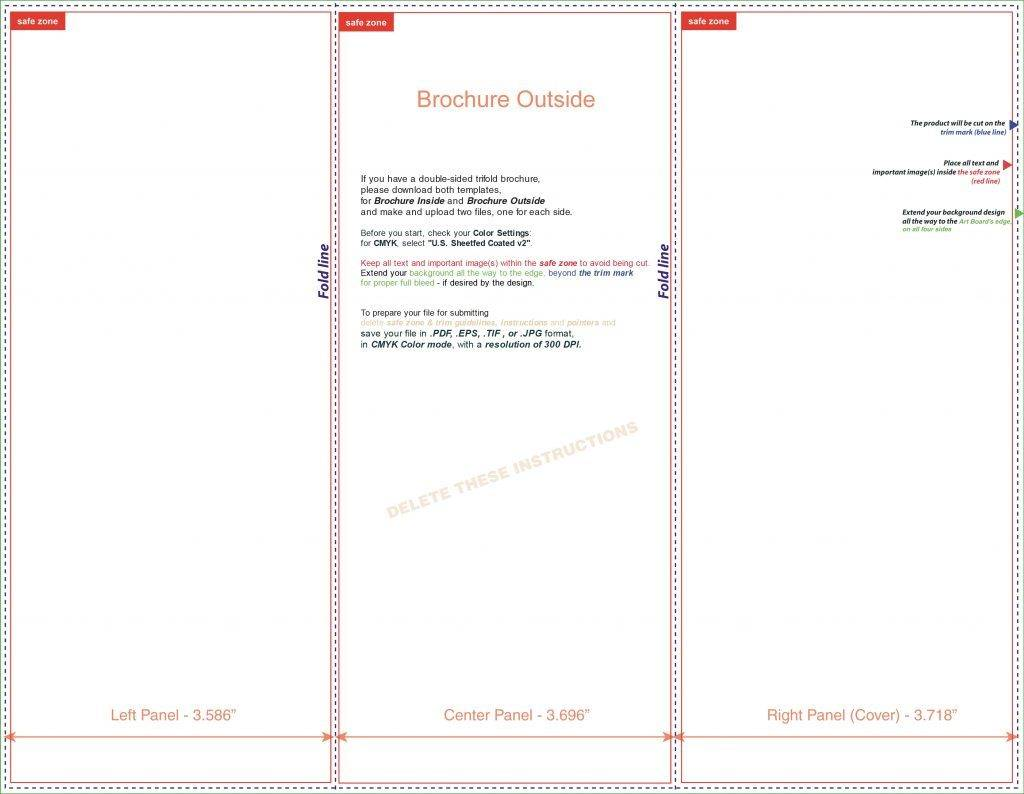 Template For Trifold Brochure Word