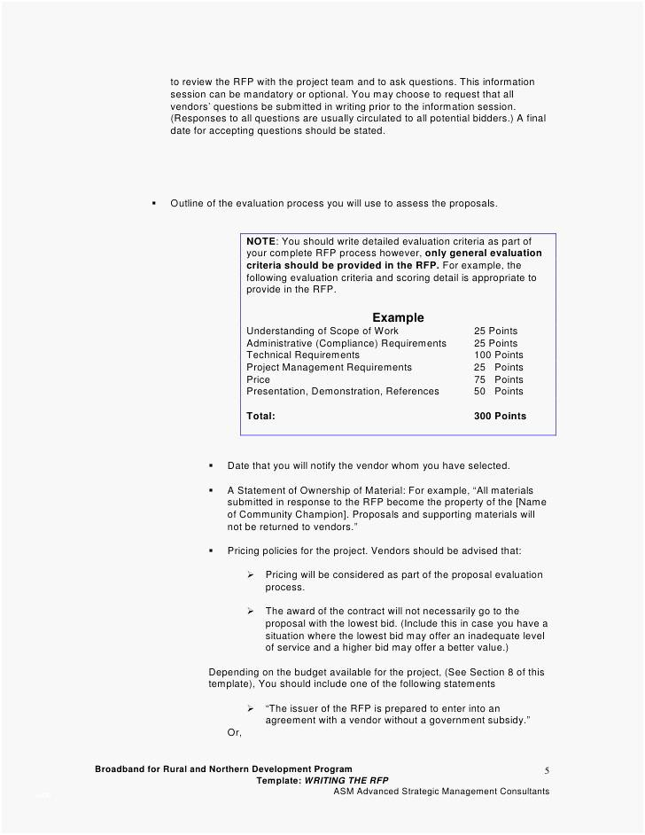 Template For Writing An Rfp