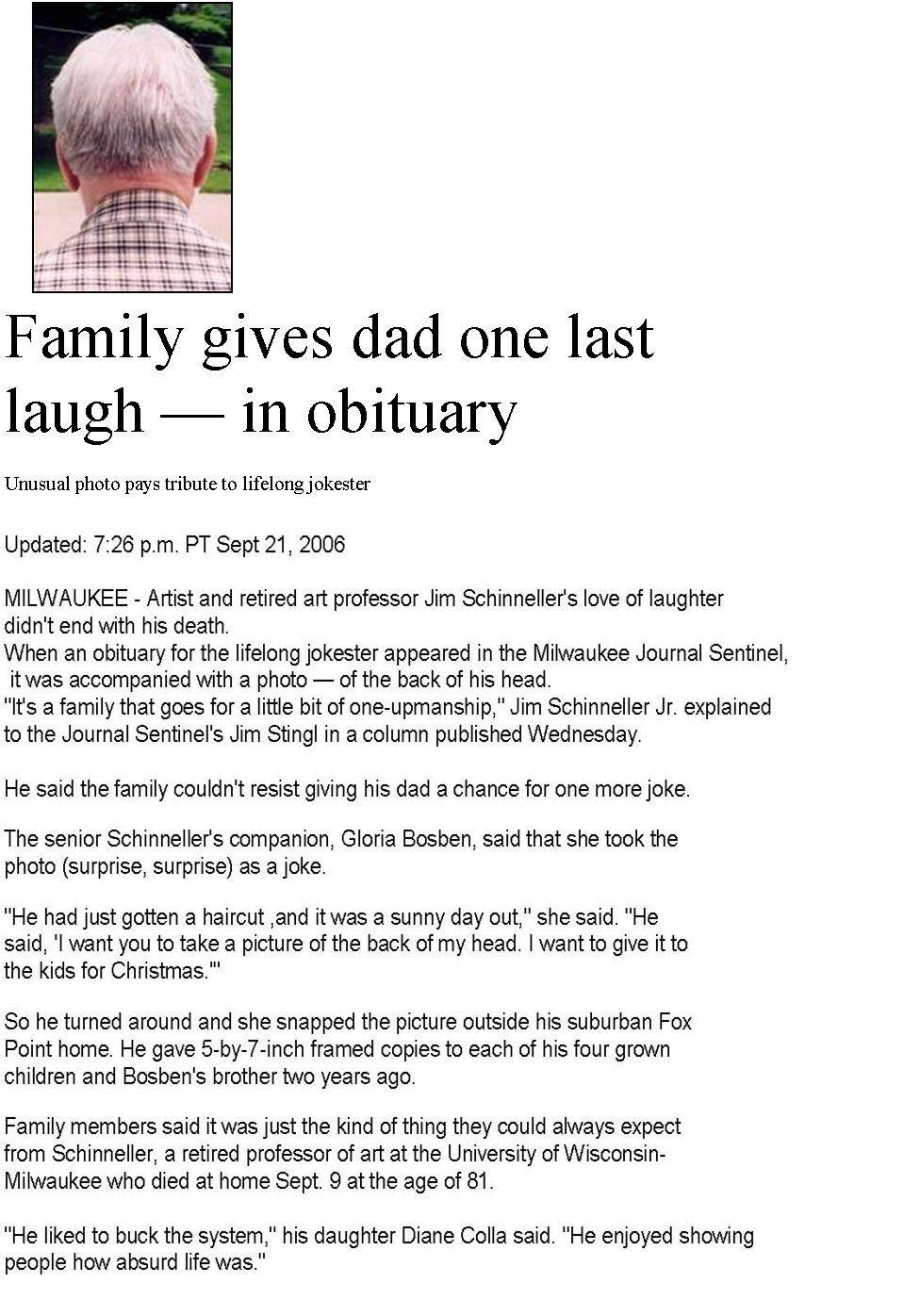 Template For Writing Obituary