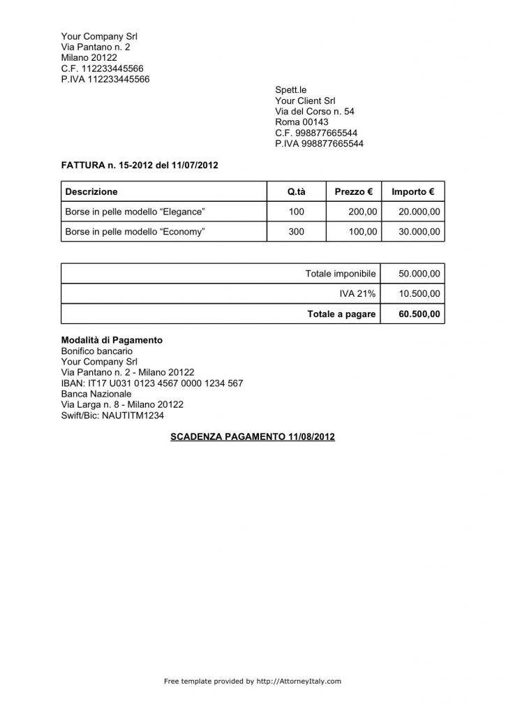 Template Invoices Uk