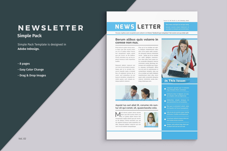Template Newsletter Indesign Gratuit