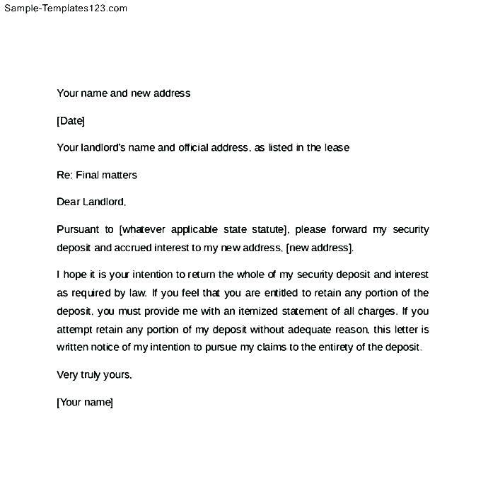 Template Notice To Vacate Rental Property