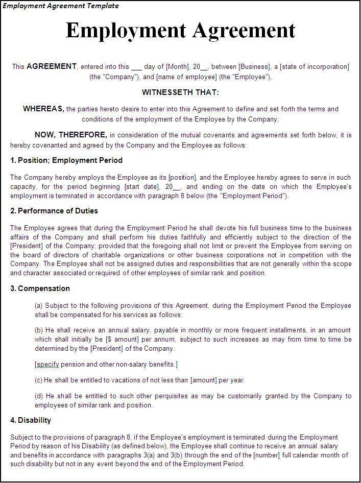 Template Settlement Agreement Employment