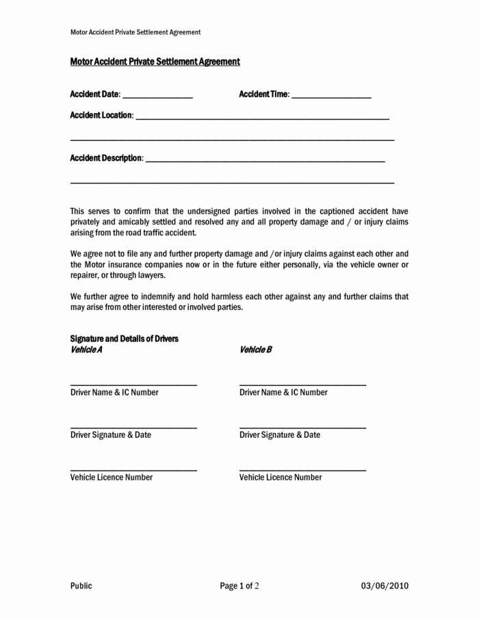 Template Settlement Agreement Letter
