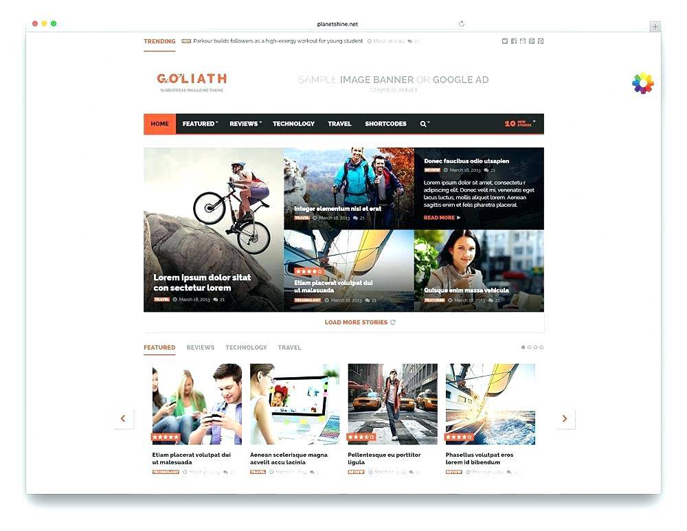 Template WordPress Responsive Free Download
