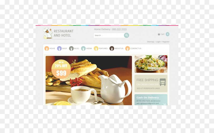 Template WordPress Restaurant Responsive