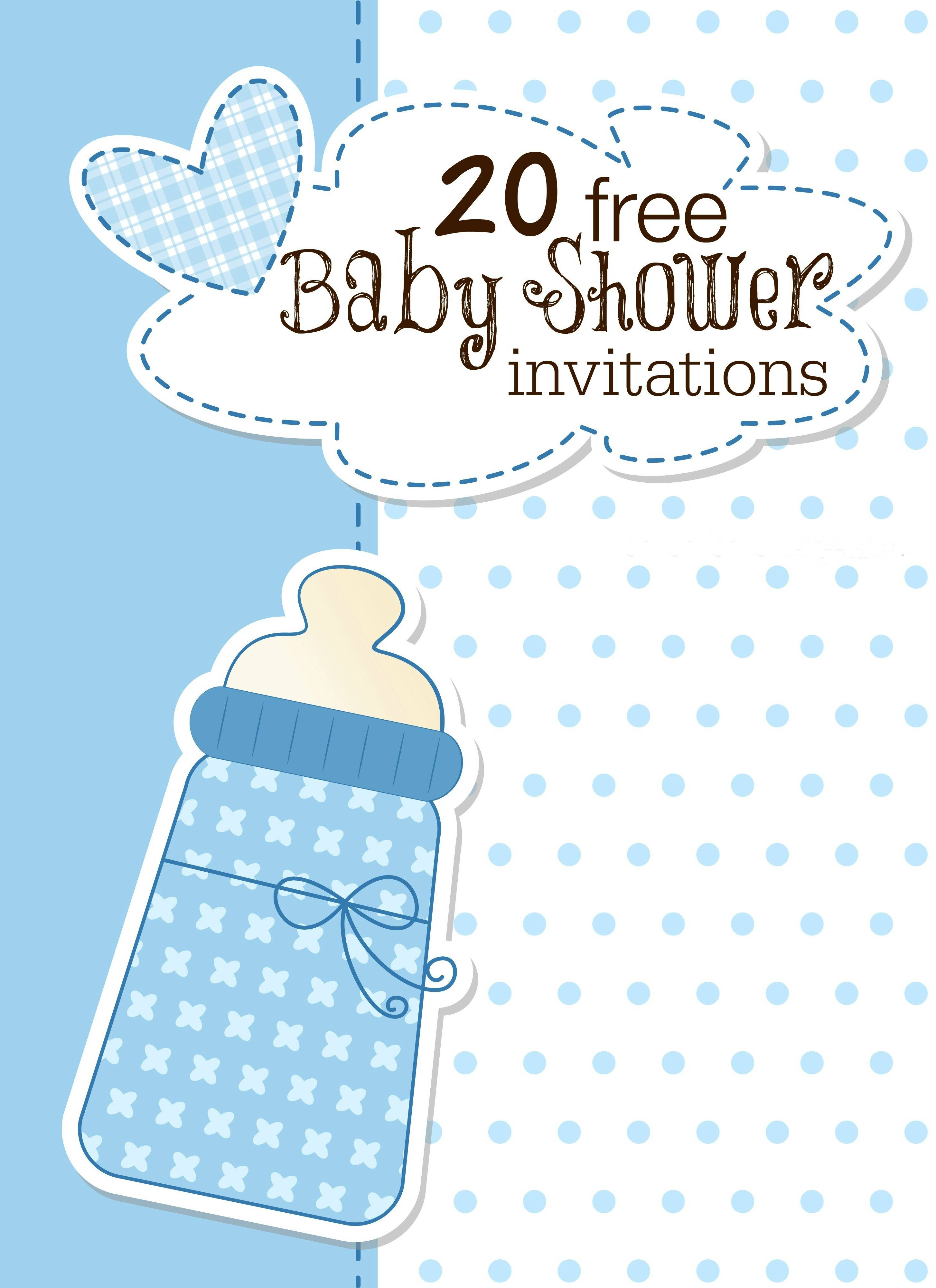 Templates For Baby Boy Shower Invitations